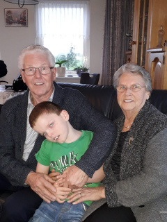 naar opa en oma